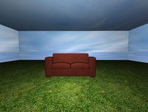 Room with sofa Royalty Free Stock Photography