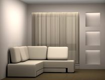 Room with a sofa Stock Photo