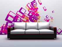 Room with a sofa Royalty Free Stock Image