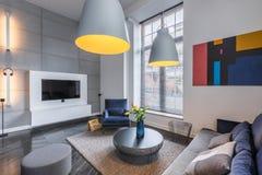 Room with sofa and armchair Stock Photos