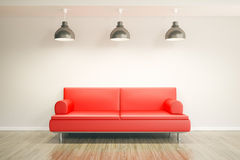 Room with sofa Royalty Free Stock Images