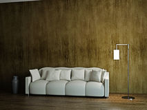 Room with sofa and a lamp Stock Photos