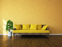 Room with sofa and a plant Stock Photography