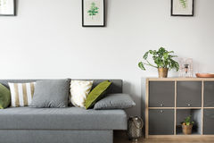 Room with sofa and rack Royalty Free Stock Photo