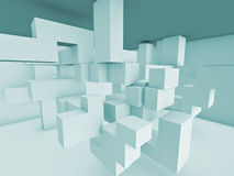 Room of solid structure. Room space of solid structure Stock Images