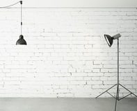 Room with spotlight and lamp. 3d renedr Stock Photo