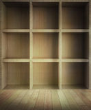 Room with square shelves Royalty Free Stock Photography