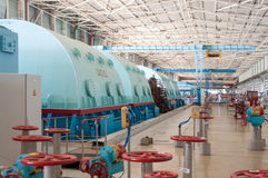 Room for the steam turbines of nuclear power. Royalty Free Stock Images