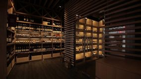 Room for storing wine stock video footage