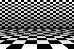 Room in the style of a chessboard. Stock Images