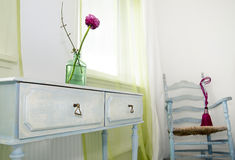 Room styling. flower on a side-table. Stock Photography