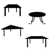 Room table black silhouette Royalty Free Stock Image