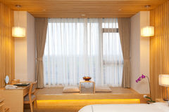 Room with tatami. Hotel room with tatami near the window Stock Photos