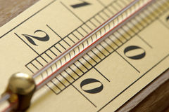 The room thermometer closeup Stock Images