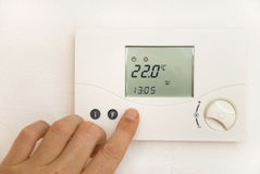 Room thermostat Royalty Free Stock Photography