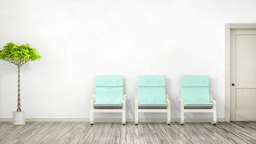 Room with three chairs Stock Photography