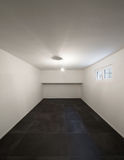 Room with tiled floor black Royalty Free Stock Photos