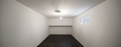 Room with tiled floor black Royalty Free Stock Image