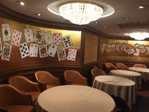 Room to play cards inside a cruise chip Royalty Free Stock Image