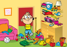 Room with toys stock illustration