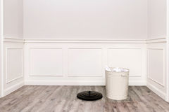 Room with trash bin Royalty Free Stock Photos