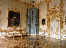 Room at Tsarskoye Selo Pushkin Palace Royalty Free Stock Photography