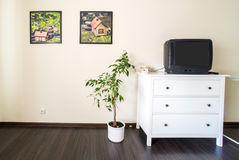 Room with Tv Royalty Free Stock Photo
