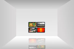 Room with a TV-panel Stock Photography