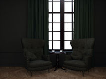 Room with two armchairs Royalty Free Stock Image