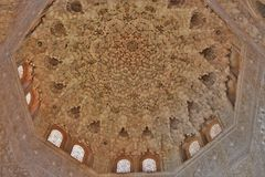 The Room of Two Sisters of the Alhambra of Granada, Andalucia, Spain royalty free stock photo
