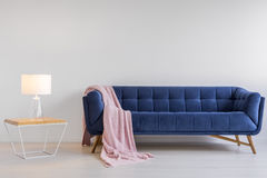 Room with upholstered sofa Stock Photo