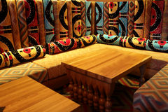 Room in uzbek restaurant Royalty Free Stock Photography
