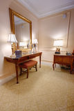 Room with vanity table and mirror Stock Photo