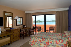 Room with a view. Luxury room with ocean view Royalty Free Stock Image