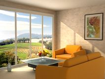 Room with a view. At Napa valley Stock Images