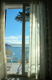 A room with a view. A room with oceanview/seaview stock photos