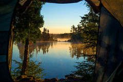A room with a view, crescent lake Stock Photos