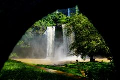 A room with a view of waterfalls