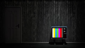 Room with vintage TV. Depending on the TV Royalty Free Stock Images