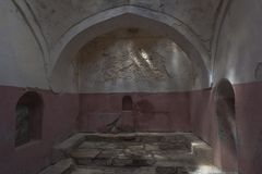 The room for washing in the Turkish bath is a medieval architectural monument of the beginning of the 16th century in the city of. Evpatoria, Crimea, Russia royalty free stock photos