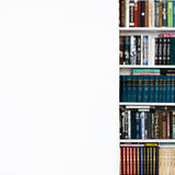 Room with White wall and book case. White home interior concept, Royalty Free Stock Image