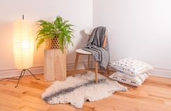Free Room With Cozy Light Decorated In Scandinavian Style Stock Image - 120998351