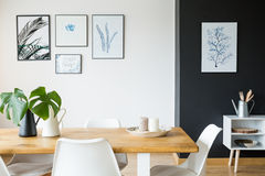 Free Room With Table And Posters Stock Photos - 95151303