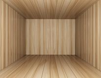 Room of wood decorated Stock Image