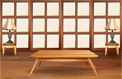 Room with wooden furniture Stock Images