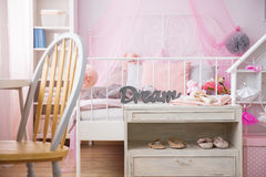 Room of young ballerina`s dreams Royalty Free Stock Photo