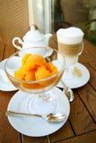 Roomijs en koffie latte Royalty-vrije Stock Foto's
