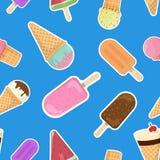 Roomijs of ijslolly naadloos patroon stock illustratie