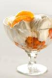 Roomijs met vruchten Stock Afbeelding