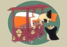 Roomijs pinguin Stock Foto's